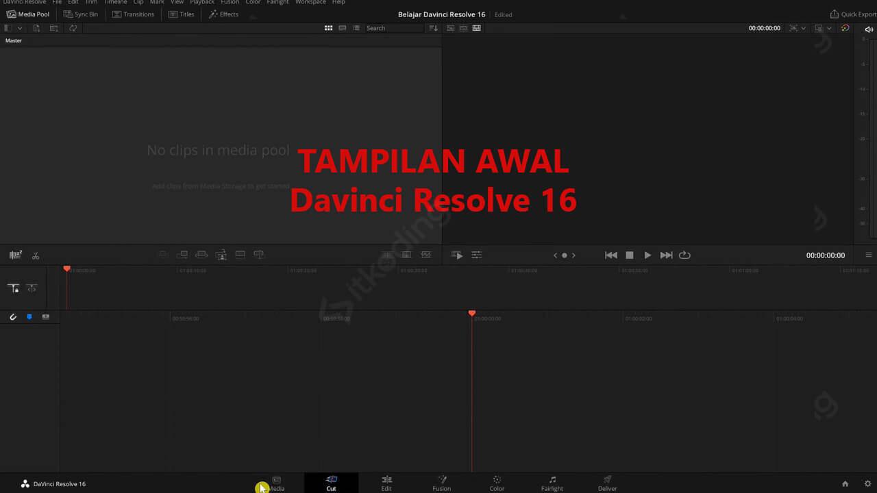 Aplikasi edit video gratis Davinci Resolve