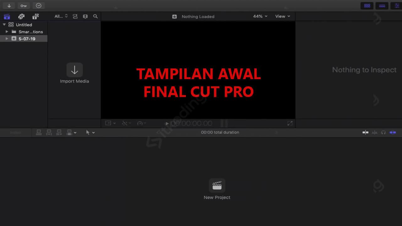 Halaman awal Final Cut Pro