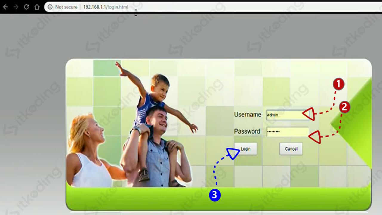 Halaman login admin indihome fiberhome