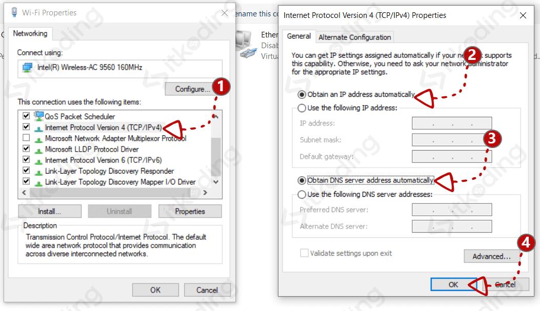 Mengganti ip address otomatis