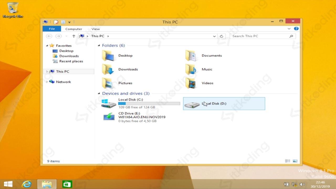 Tampilan awal Windows 8