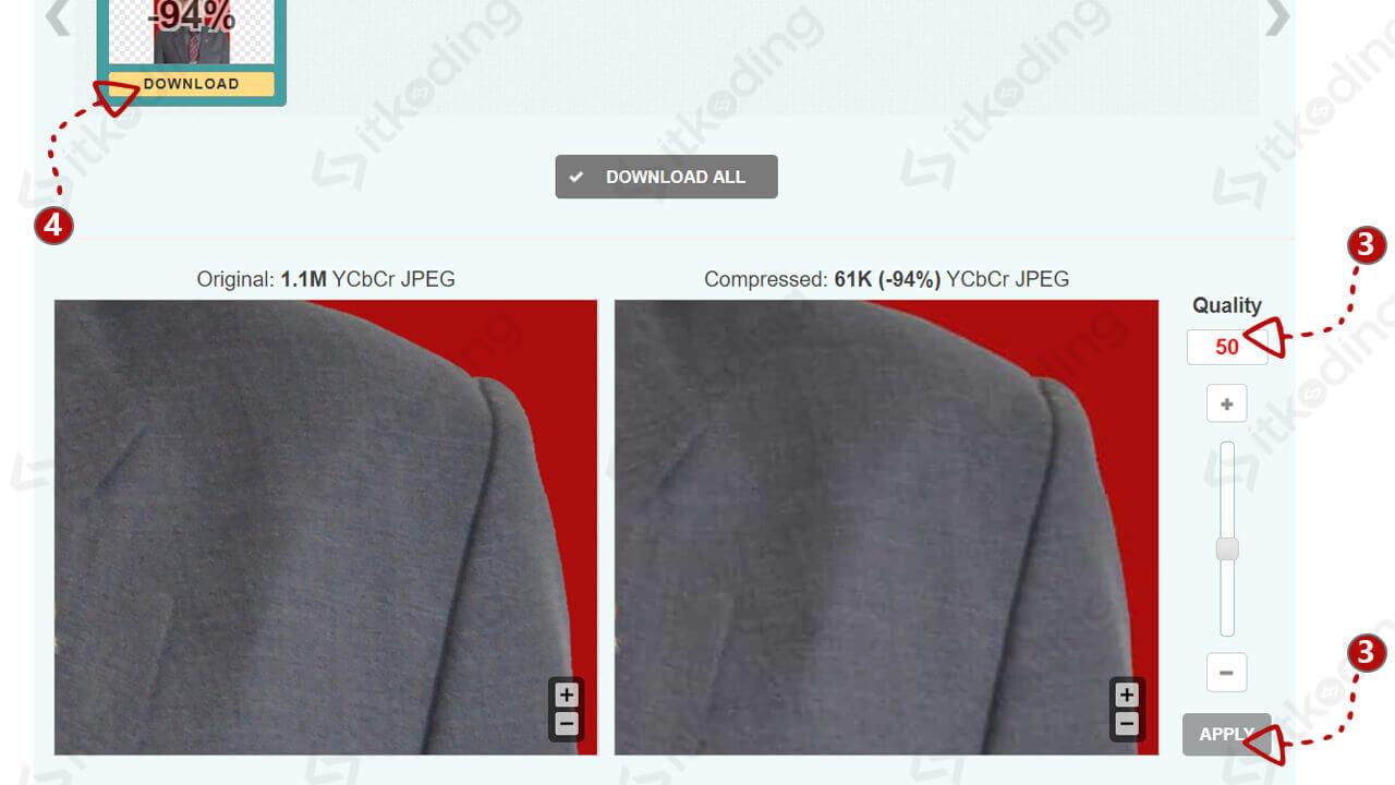 Kompres ukuran foto dengan imagecompressor