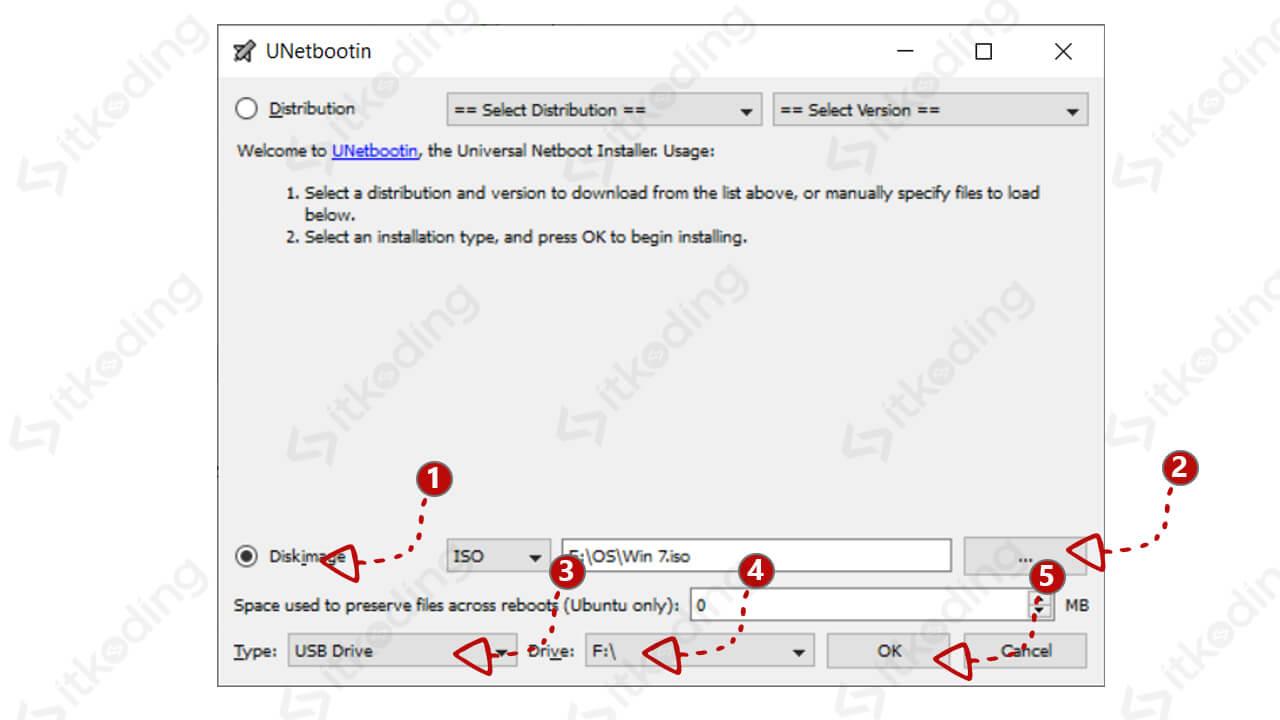 Langkah-langkah membuat bootable dengan unetbootin