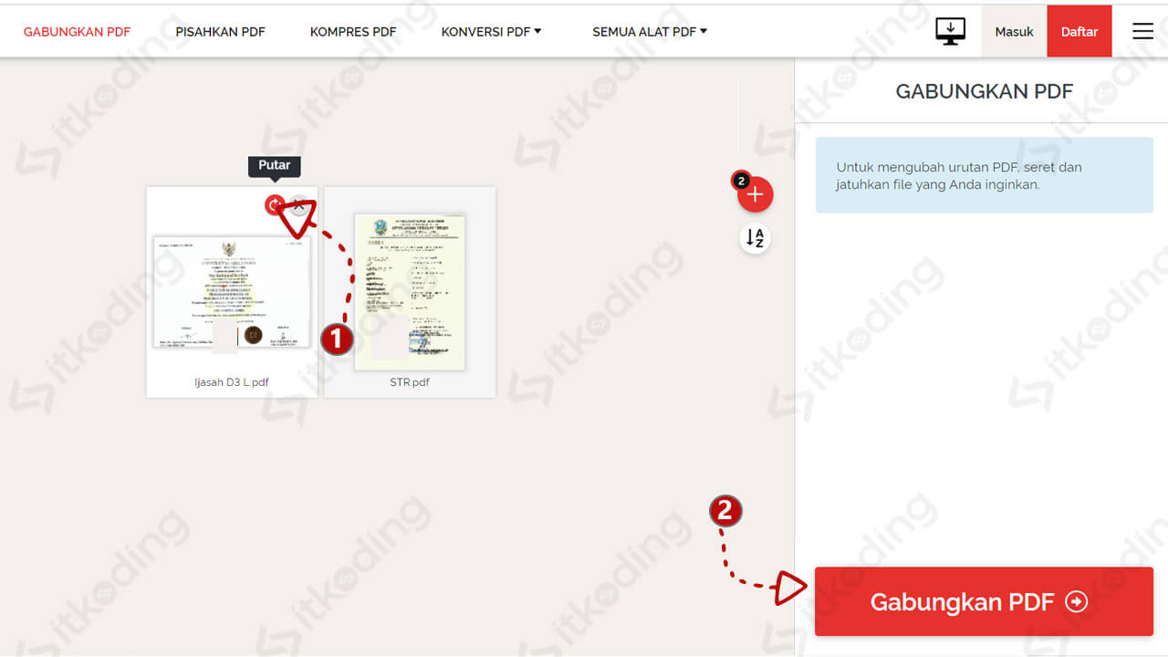 Langkah menggabungkan pdf online dengan iLovePDF