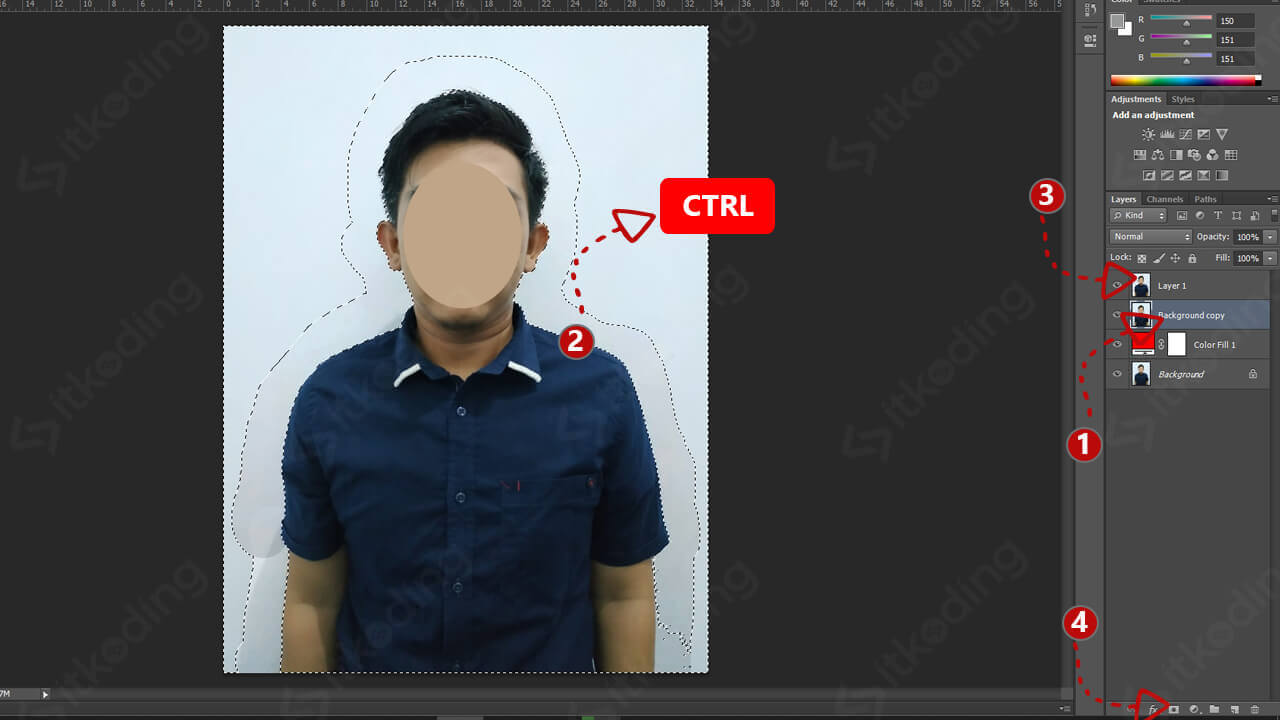 Membuat layer mask di photoshop