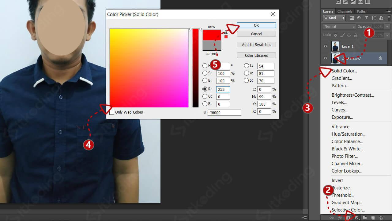 Membuat layer warna baru
