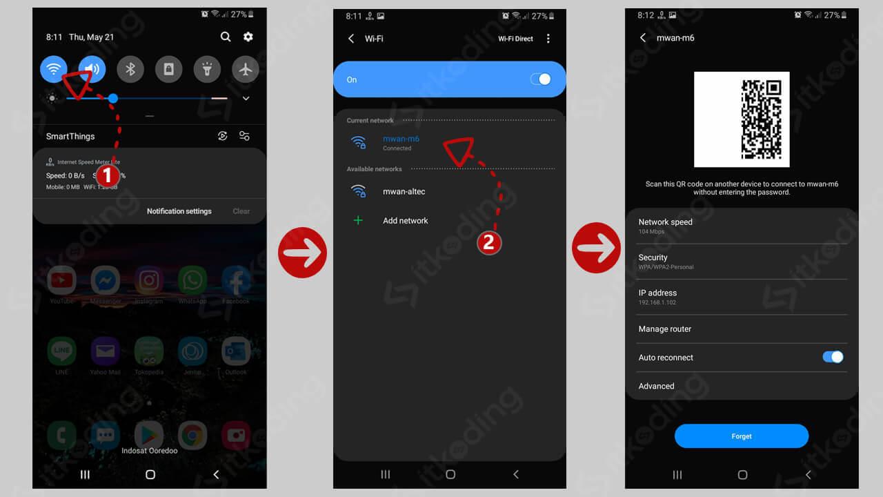 Menampilkan qr-code wifi android