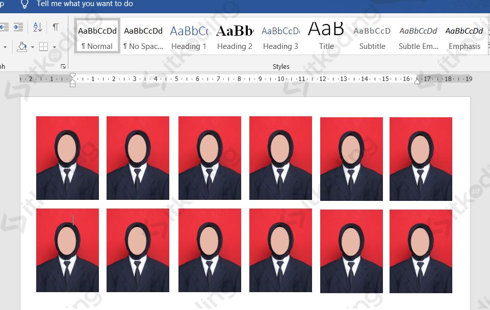 Mencetak pas foto dengan ukuran 3x4