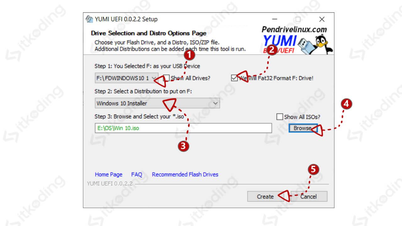 Pengaturan yumi untuk membuat bootable