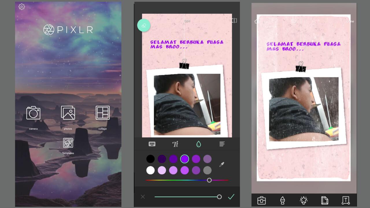 Tampilan pixlr di android