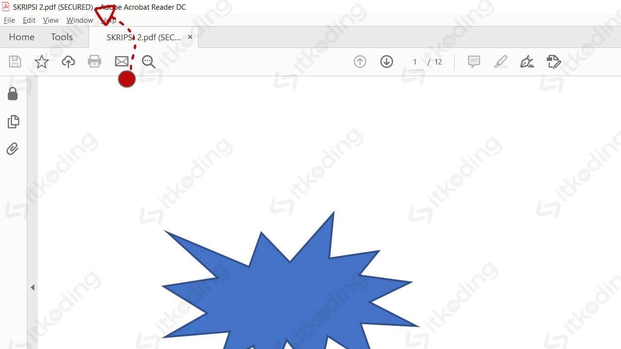 Tanda bahwa file pdf dikunci