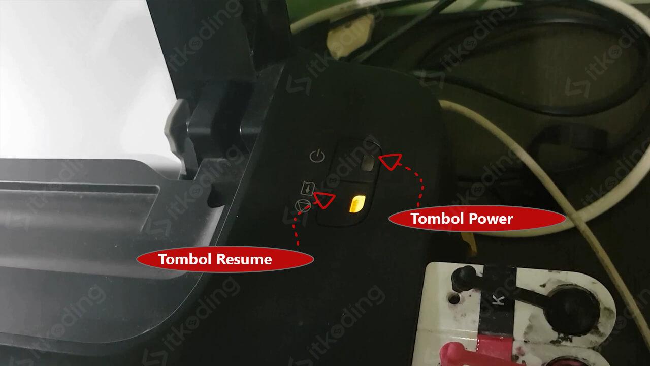 Tombol resume dan power di canon ip2770