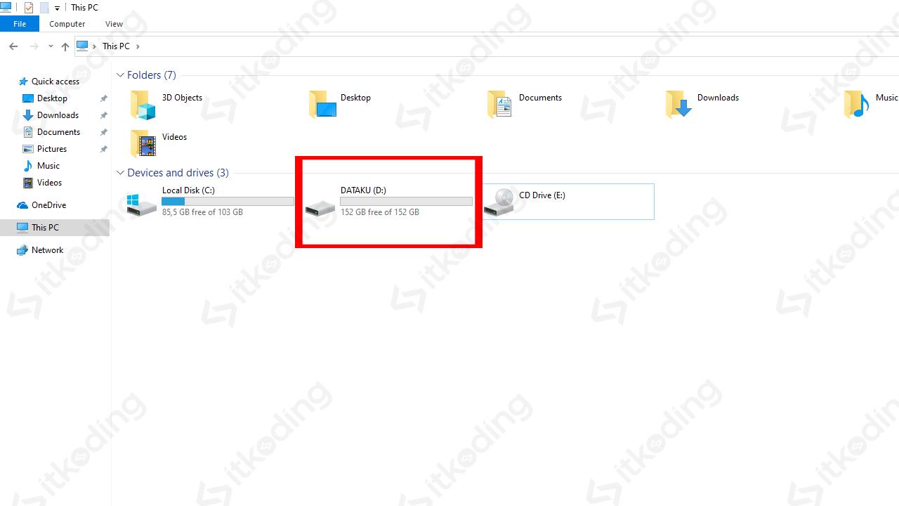Partisi baru di file explorer windows 10
