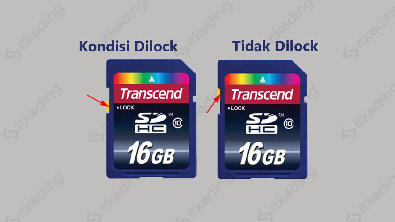 Tombol switch lock pada sd card