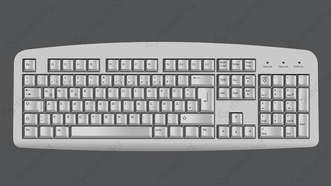 Keyboard komputer warna putih