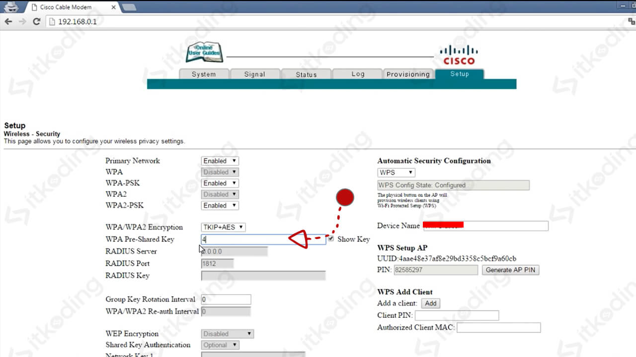 Menu security di router cisco first media