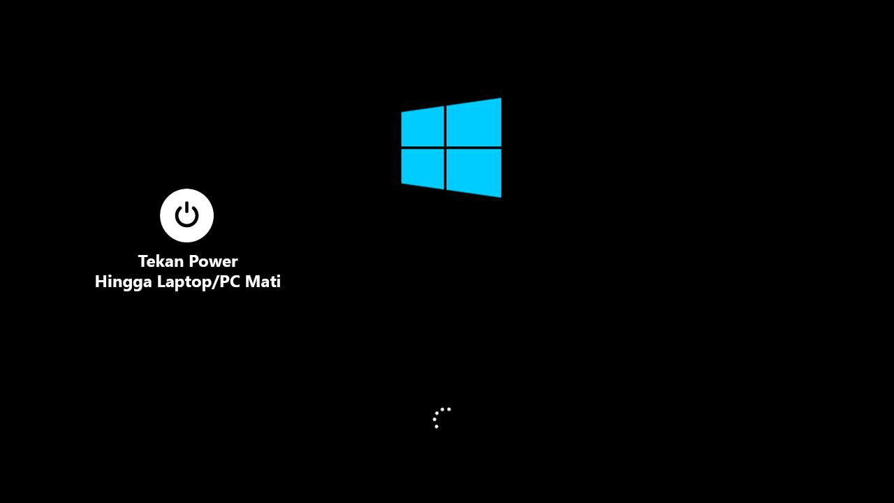 Tampilan loading windows 10
