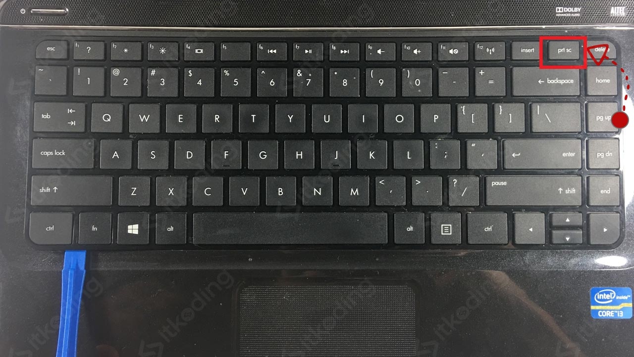 Tombol print screen di laptop hp