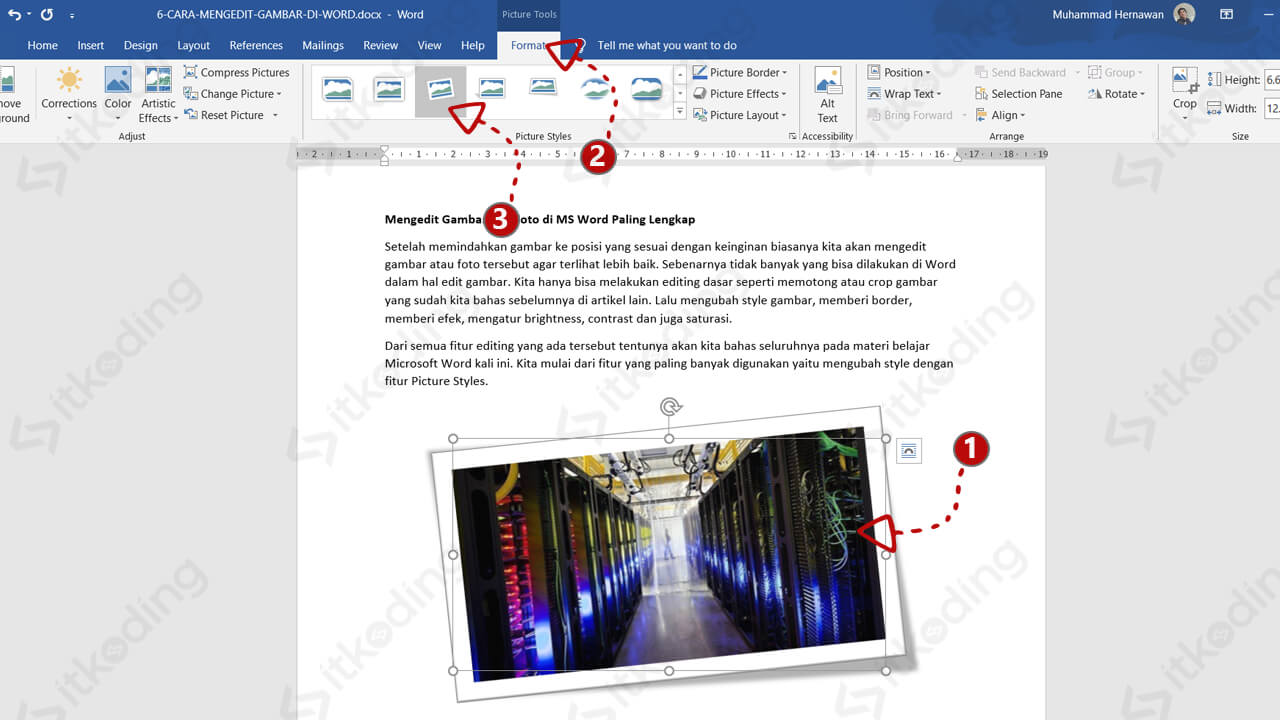 Fitur picture styles pada ms word