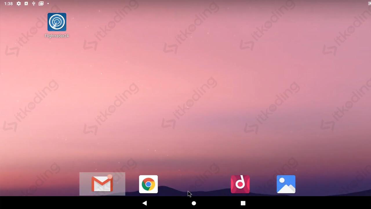 Antarmuka android x86 untuk pc