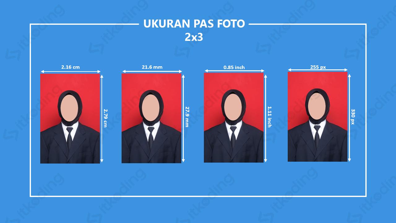 Infografik ukuran foto 2x3