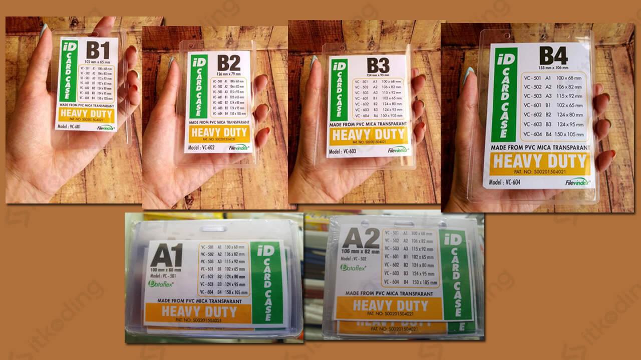 Contoh id card dalam berbagai ukuran