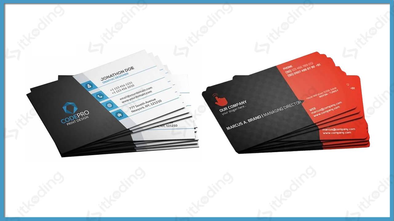 Contoh kartu nama dengan ukuran standar