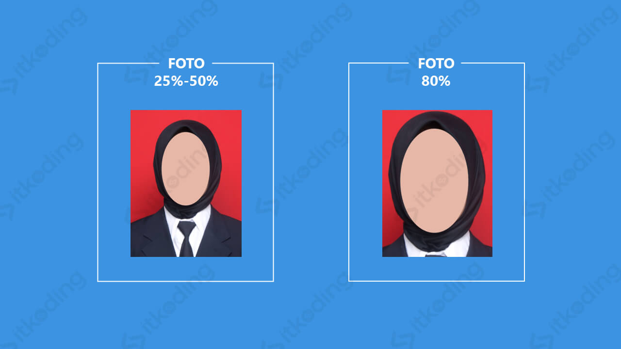 Perbedaan foto 25, 50 dan 80%