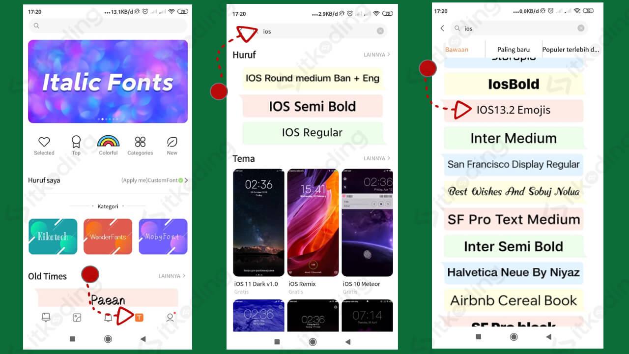 Pilihan emoji ios iphone pada aplikasi tema xiaomi