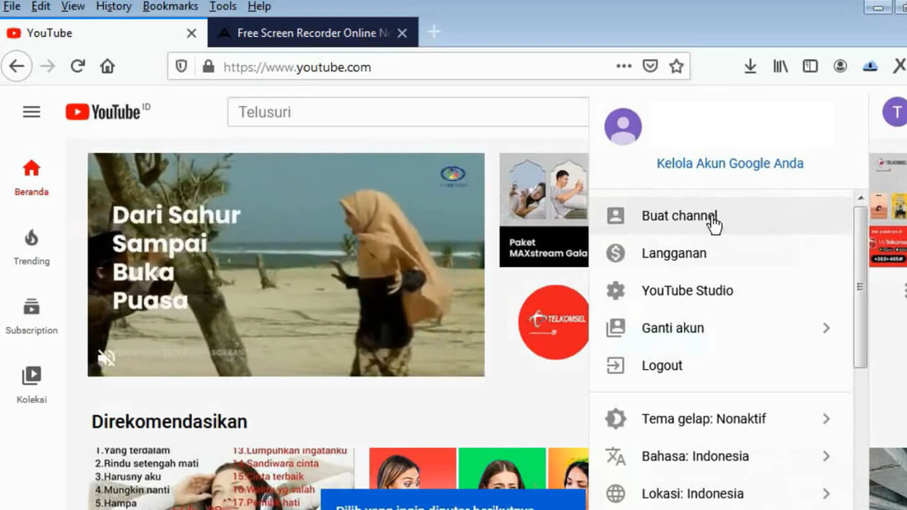 Cara Membuat Akun Channel Youtube Pada Laptop Dan Hp