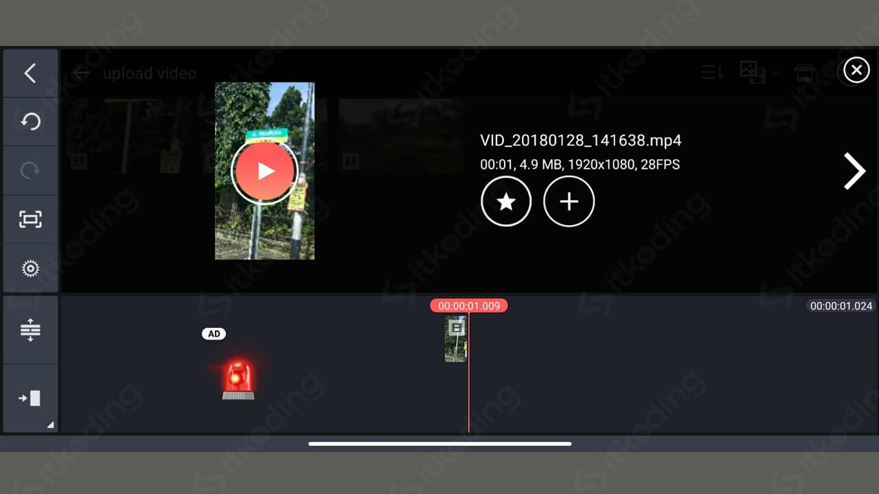 Import video di kinemaster android