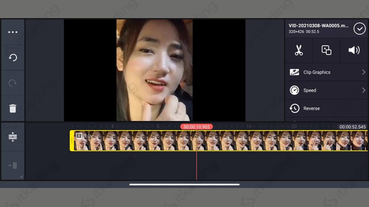 Langkah memotong video di kinemaster