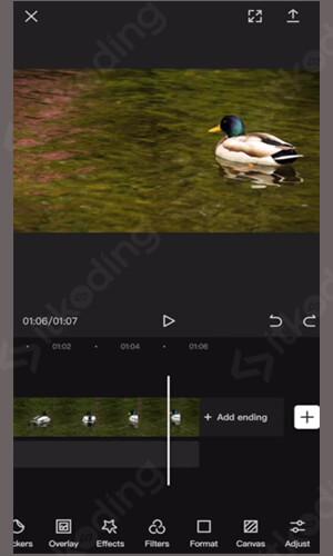 Tampilan aplikasi capcut android