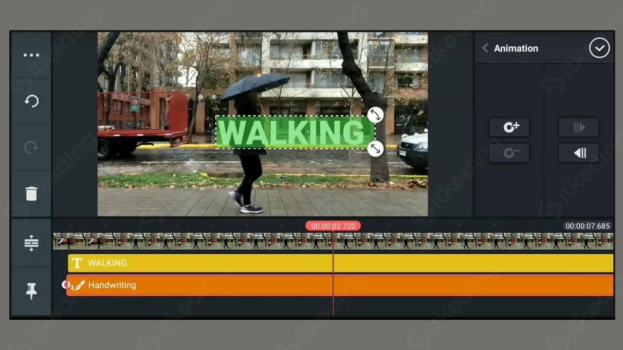 Tampilan aplikasi edit video terbaik kinemaster di android