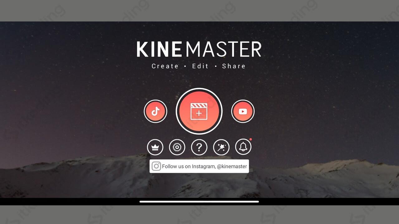 Tampilan awal aplikasi edit foto kinemaster