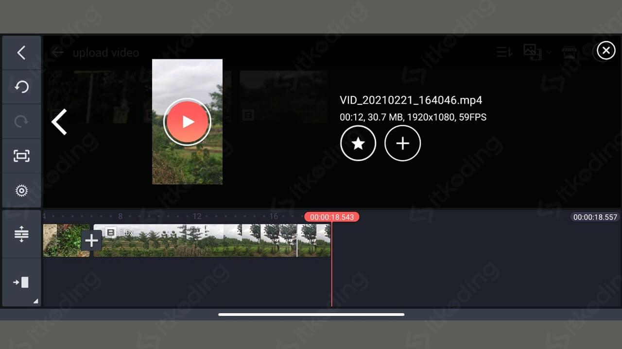 Tombol menggabungkan video pada kinemaster