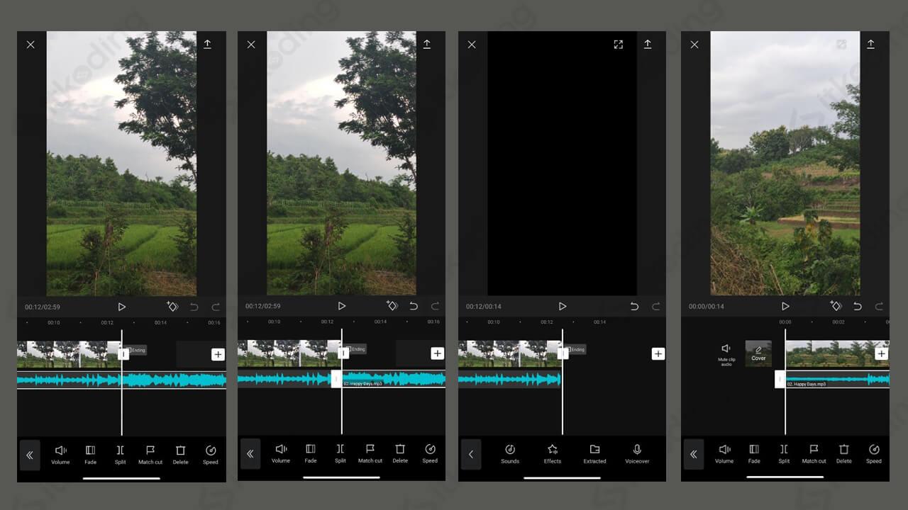 Edit video dan musik jedag jedug di capcut
