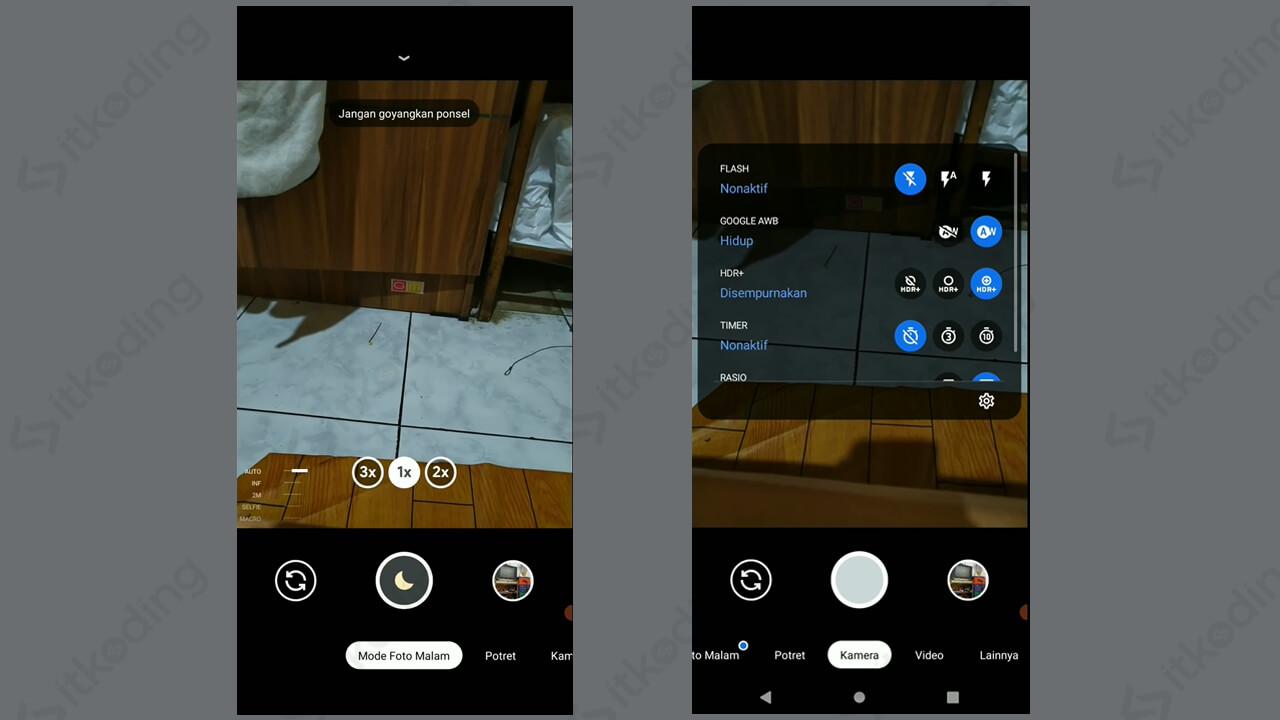 Tampilan aplikasi gcam di android