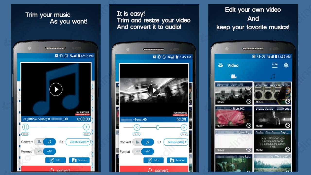 Fitur pada aplikasi video mp3 converter