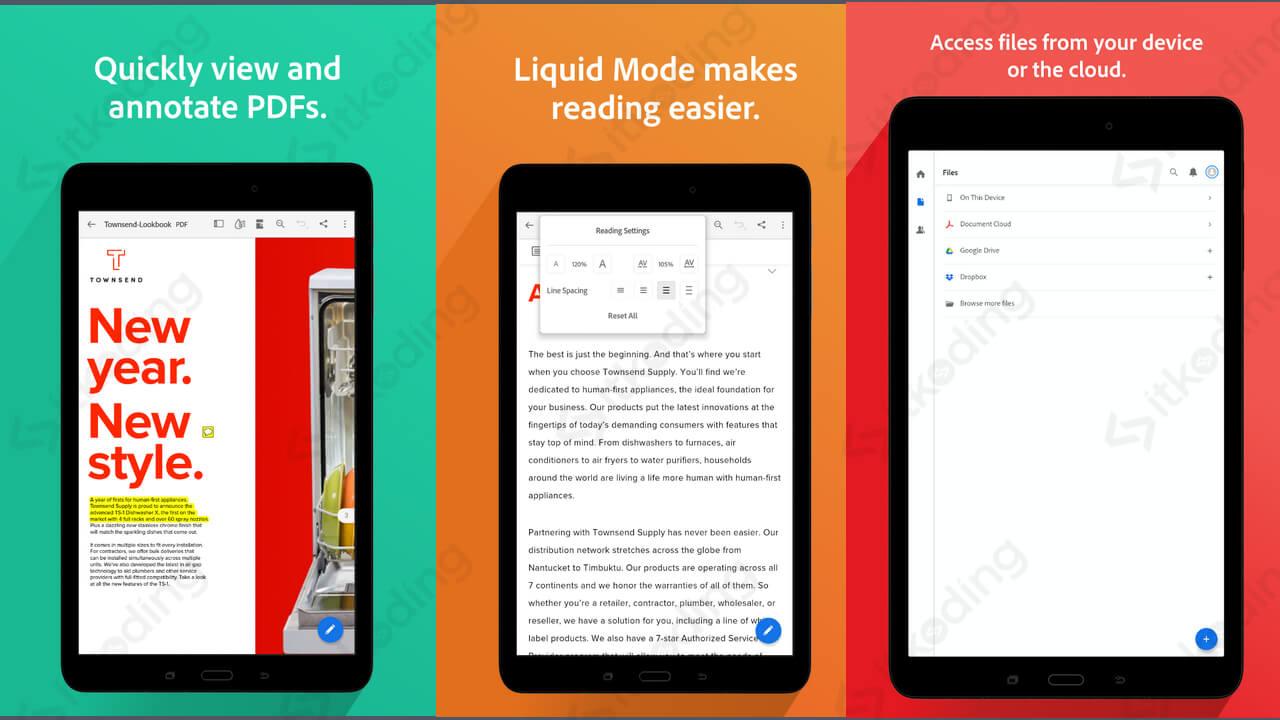 Tampilan adobe reader di android