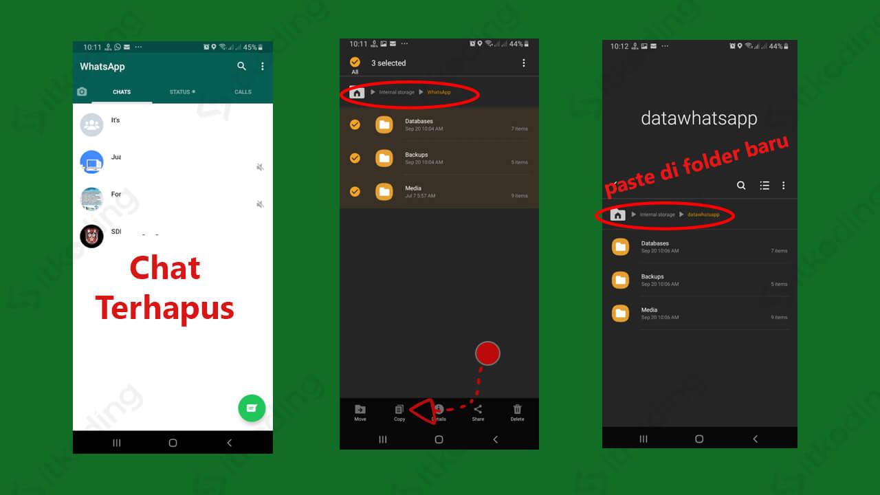 Copy file dari folder whatsapp ke folder baru