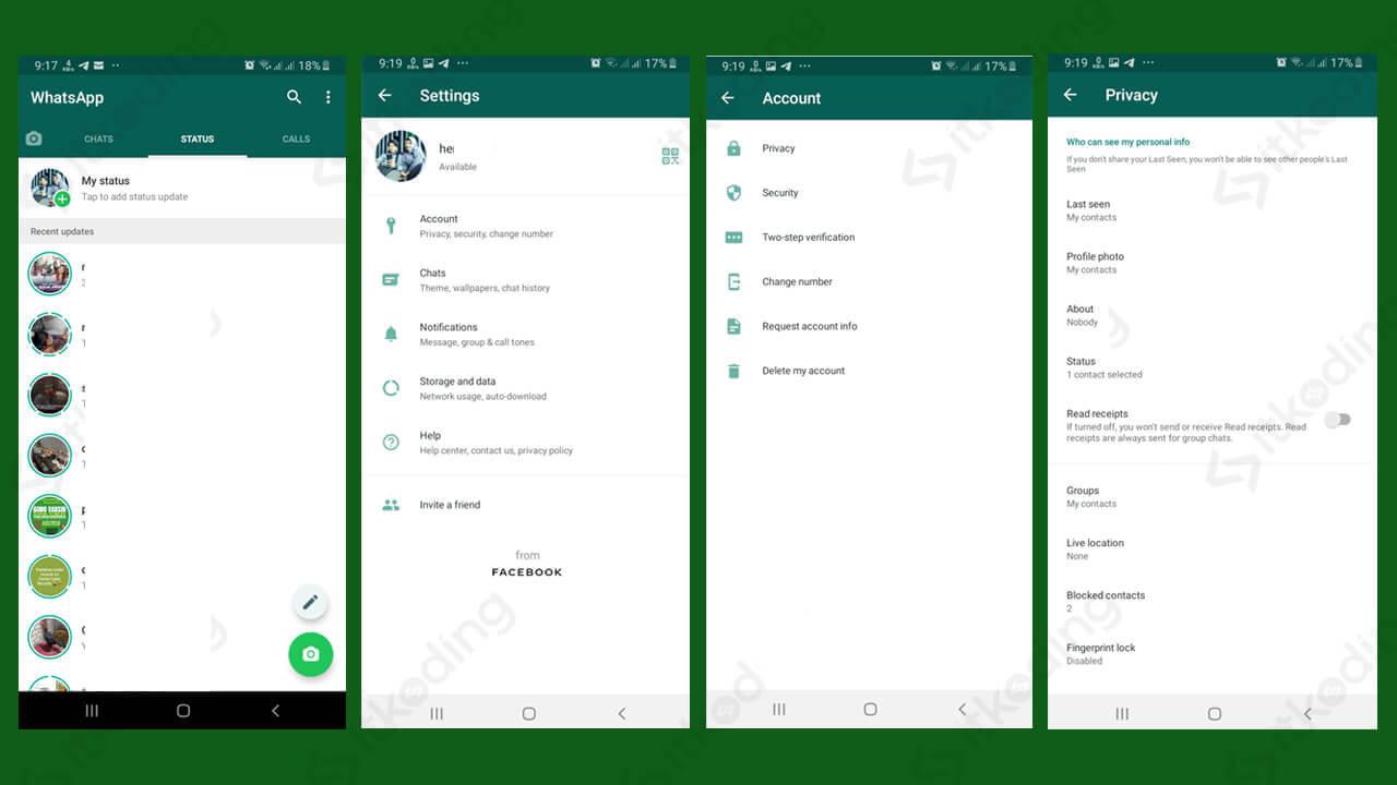 Pengaturan privasi pada whatsapp